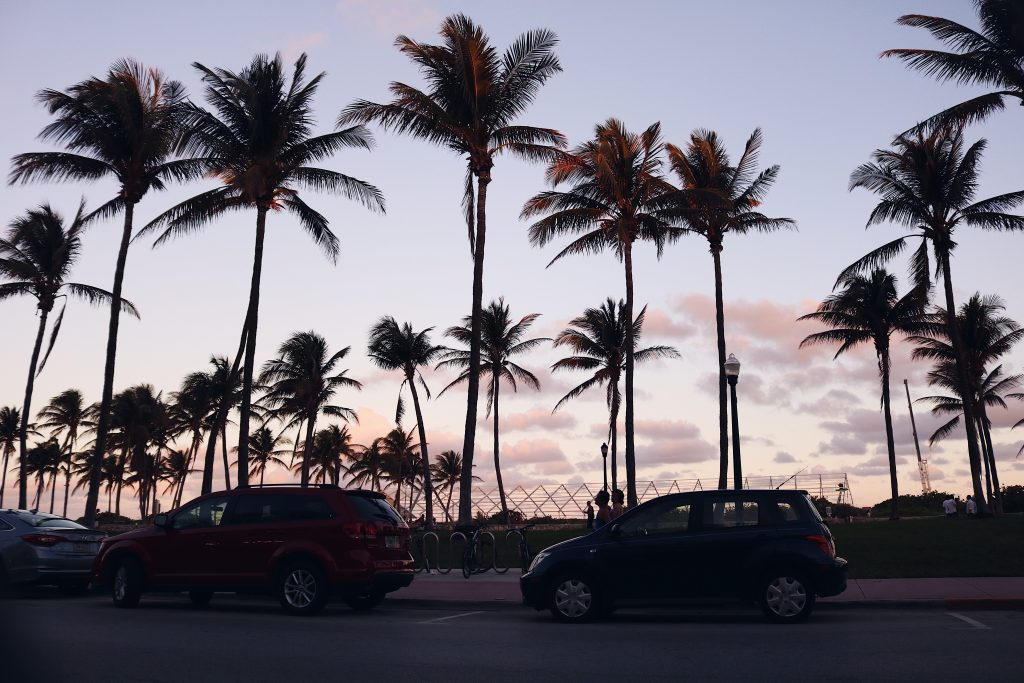 Sunset at Ocean Drive Miami