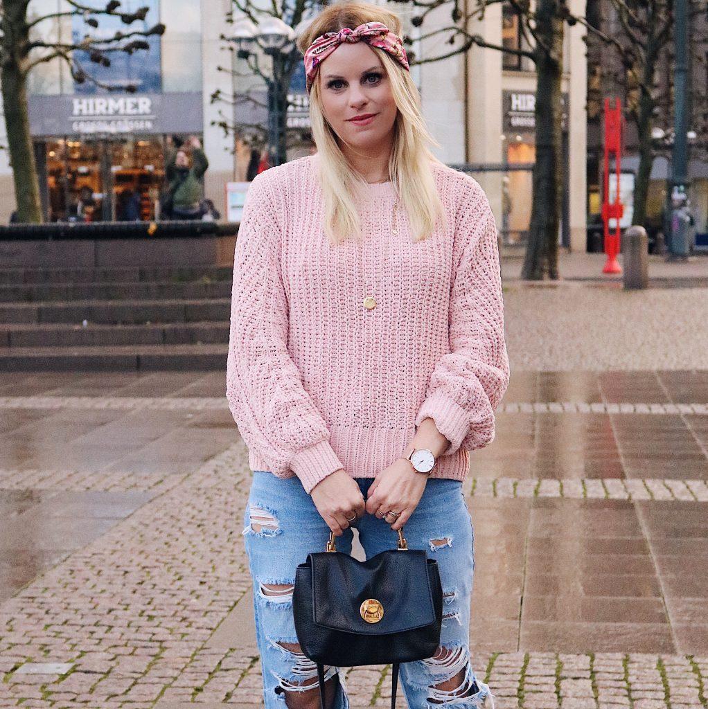 Samtpullover rosa von H&;M