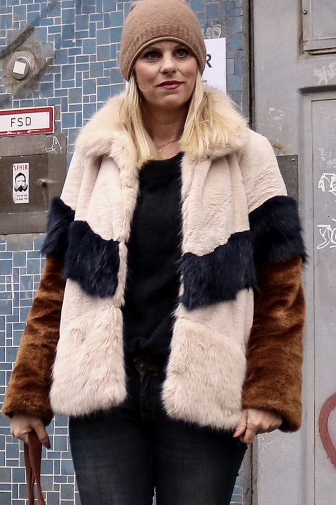 Felljacke, Fake Fur, Winterjacke