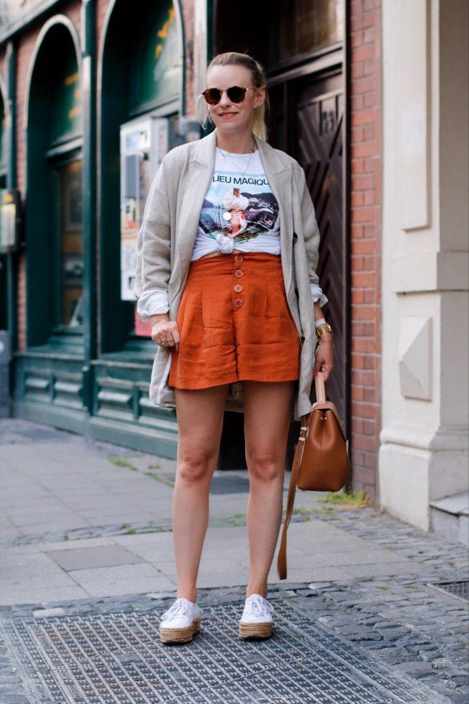 Zara Shorts Rostrot