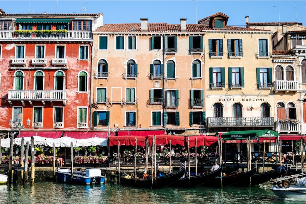 Venice, Hotel Marconi, Blumen Venedig