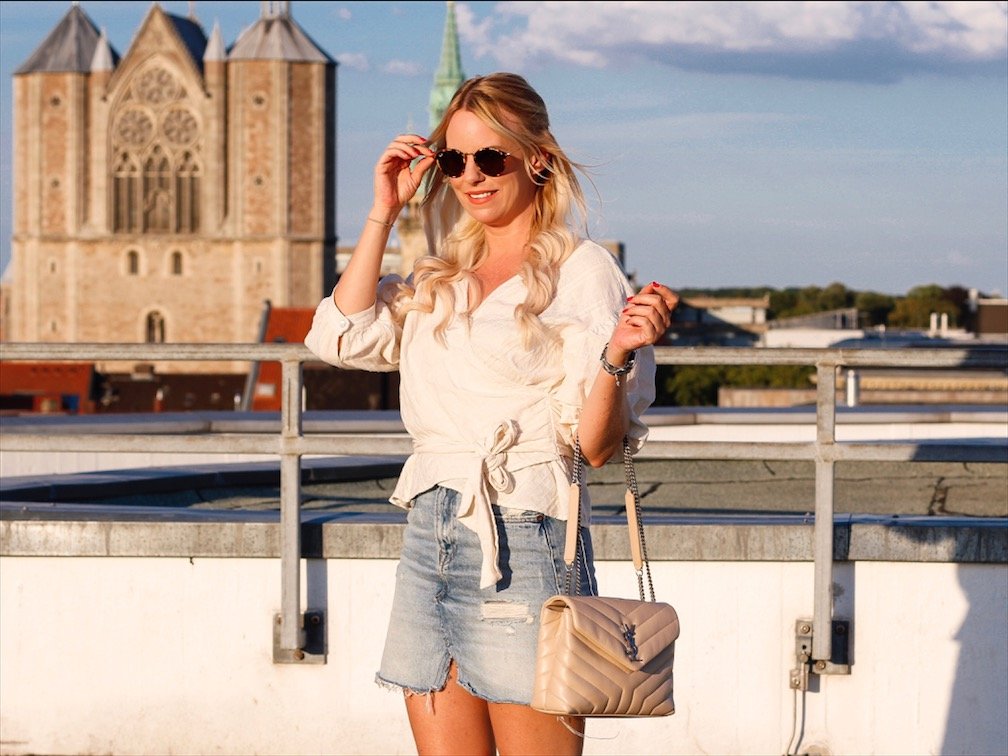 Wickelbluse Zara, Loulou Bag