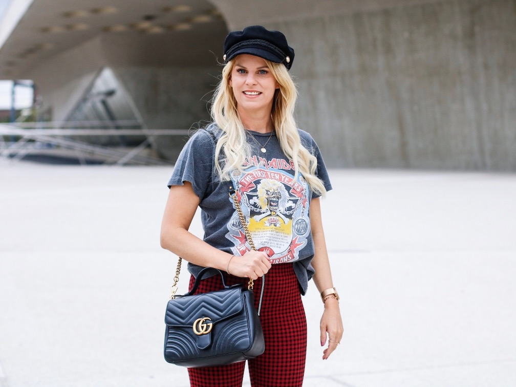 Bandshirt Urban Outfitter, Gucci Marmont, Marina Kauf