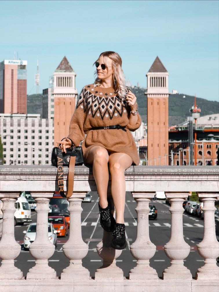 Wie trage ich einen Norweger Pulli, Ash Sneaker,Placa Espanya